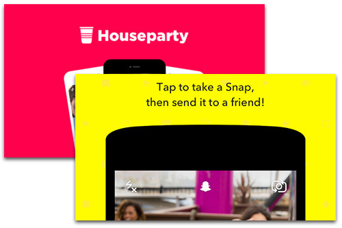 Houseparty and Snapchat
